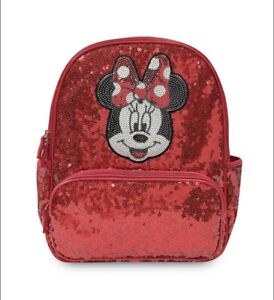 Disney Minnie Mouse Sequin Ruby Red Backpack