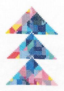 DMC Geometry Rules Triangulation Printed Embroidery Kit