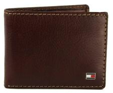 NEW TOMMY HILFIGER MEN'S PREMIUM LEATHER ZIPPER COIN ID WALLET TAN 31TL13X066