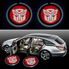 2 x Wireless LED Car Door Projector Ghost Shadow Welcome Logo Light Transformers