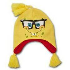 NWT-Kids Yellow Spongebob Knitted Laplander Beanie Trapper Cap Hat-OS