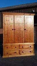 Pine Handmade Wardrobes with Drawers