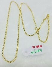 GoldNMore: 18K Necklace and Pendant Gold 1.1G 16 inches