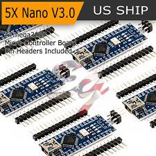 5Pcs USB CH340G Nano V3.0 16M 5V ATmega328P Micro-Controller Board For Arduino