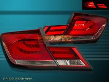 Fit For 13-15 Honda Civic 4dr Sedan Red / Clear  L.E.D Tail lights 4 PCS