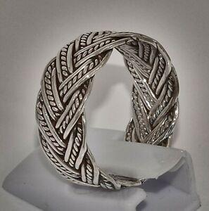 massiv Sterling Silberring 925 Zopfring Keltisch 3fach Celtic Gothic Flechtwerk