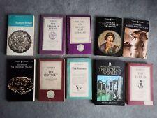 JOB LOT ROMAN PAPERBACK TEXT BOOKS HOMER TACITUS VIRGIL EURIOIDES LUCRETIUS