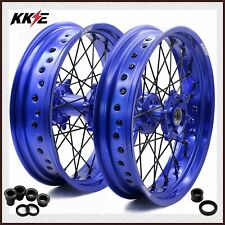 KKE 3.5/4.25 Supermoto Wheels Set Fit YAMAHA WR 250F 2001-2019 WR450F 2003-2018