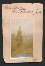 1930 Vintage Golf Autograph Sheet (2 Signatures with Vintage Photographs)