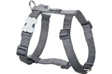Red Dingo Plain STEEL GREY Harness for Dog or Puppy | Sizes XS - LG | FREE P&P