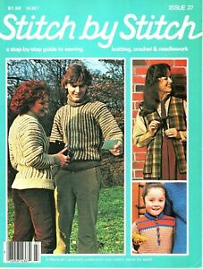 Stitch by Stitch Magazine Issue 27 (1982) Guide to Sewing, Knitting and Crochet