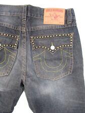 True Religion Billy authentic EUC made USA pyramid studded leg jeans 38 30