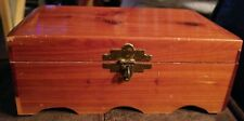 "Vintage Cedar Footed Trinket Box Marked Murphy Approx. 8"" x 4"" x 3"""