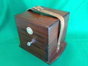 Ships chronometer, an Elgin deck watch outer carrying box