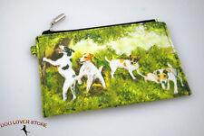 Jack Russell Terrier Dog Bag Zippered Pouch Travel Makeup Coin Purse
