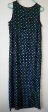 Style & Co collection women's sleeveless maxi dress polka dots size 8