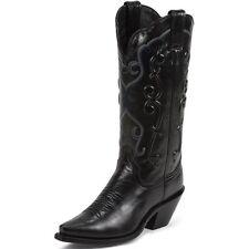 "Women's Justin 13"" Western Boot Black Sophia L4342"