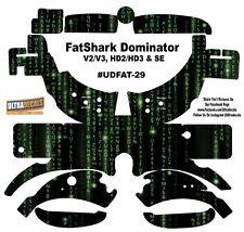FatShark Dominator V2 V3 HD2 HD3 Skin Wrap Decal Fat Shark Matrix