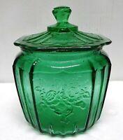Green Mayfair Open Rose Cookie Jar