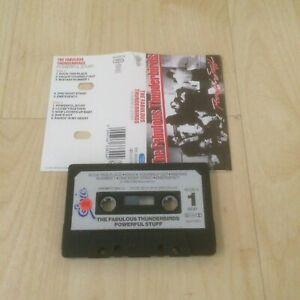 THE FABULOUS THUNDERBIRDS - POWERFUL STUFF (UK CASSETTE/TAPE ALBUM) PAPER LABELS