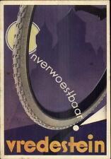 Poster Art Onverwoestbaar Vredestein TIRES 1936 Dutch Continental Postcard gfz