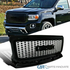 For 15-18 GMC Canyon Denali Style Glossy Black Front Bumper Hood Grill Grille