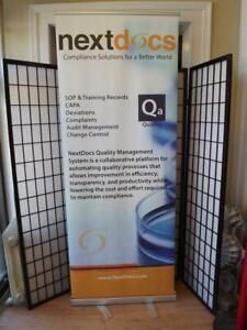 """Skyline Retractable Banner Stand Portable Roll Up/Pop-Up Display Stand 84""""x32"""""""
