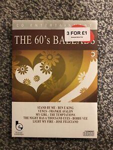 CD The 60s Sixties Ballads Ft Frankie Avalon Petula Clark Temptations