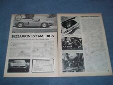 1967 Bizzarrini GT America Vintage Road Test Info Article