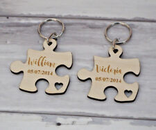 Valentines Day Personalised Keyring Gift Puzzle Him Her Wedding Anniversary Love