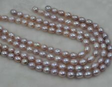 wholesale 5 Qty loose freshwater pearl strings 8.5-9.5*10-11.5mm pink  purple
