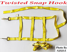 Car Dolly Wheel Net Tire Basket Tow Adjustable Strap Twisted Snap Hook Set of 2
