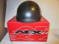 AFX FX-72 STEALTH MOTORCYCLE HELMET+BUILT IN VISOR BLACK/CHECKERED  XS NEW OTHER