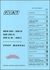 FIAT 500 SHOP MANUAL BOOK SERVICE REPAIR ABARTH TOPOLINO NOUVA 500L 500D PUCH GT