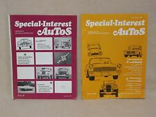 """RARE- """"SPECIAL INTEREST AUTOS"""" -FIRST & SECOND BOOK ISSUED, VOL. #1 & #2 IN 1970"""