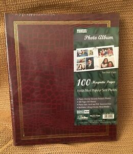 Pioneer Photo Album w/ 100 Magnetic Pages Photo Safe - NEW SEALED- Brown