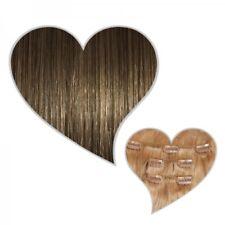 Clip-In-Extensions 90 Gramm 40 cm hell-aschbraun #08 Echthaar Haarteile Clips