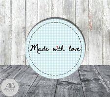Aufkleber rund 40 mm / Made with love / DIY / Geschenkaufkleber / Etiketten