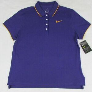 Nike Women's Purple & Gold Short Sleeve Polo Shirt Size XL CJ1810-549