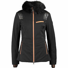 Genuine EMPORIO ARMANI Women's Black Wool Ski Jacket, size Medium