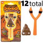 12 TOTAL Slingshot Flying Poop Stinker - Emoji Turd GaG Prank Joke Child Toy