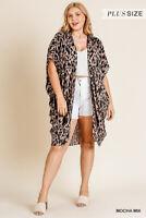 Plus Size Umgee Animal Print Kimono