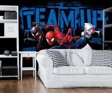 Marvel wallpaper mural for Kids bedroom Spider-Man comics Spiderverse characters