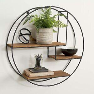 Elegant Attractive Design Industrial Large Circle Shelf Home Decor M-21