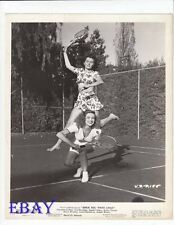 Rhonda Fleming sexy leggy plays tennis VINTAGE Photo Since You Went Away