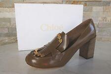 CHLOÉ CHLOE Pumps Gr 39 Schuhe shoes scarpe schlamm CH19231 neu UVP 645 €