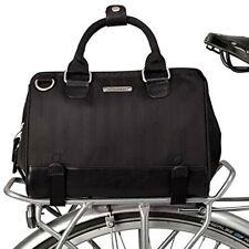 Uptown Bike Trunk Bag Bike Satchel Black Herringbone