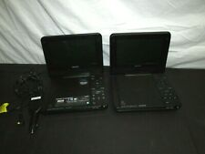 "(TWO) Sony DVP-FX730 Portable DVD Players (7"") + Charger Bundle Tested (CL)"