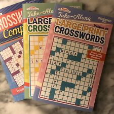 (3) Crossword Puzzle Books - FREE SHIPPING - Good Value