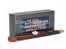 7.4V 4000mAh 65C 2S SHORTY HardCase LiPo Battery Pack 4mm Bullet Deans TLR 22 B5